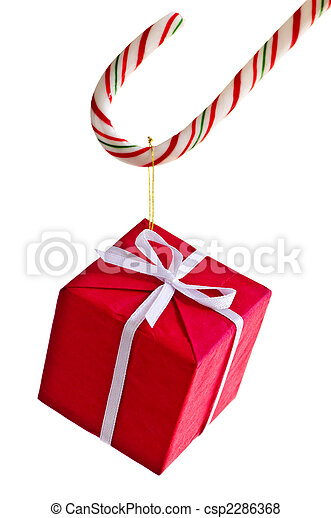 Candy cane and present - csp2286368
