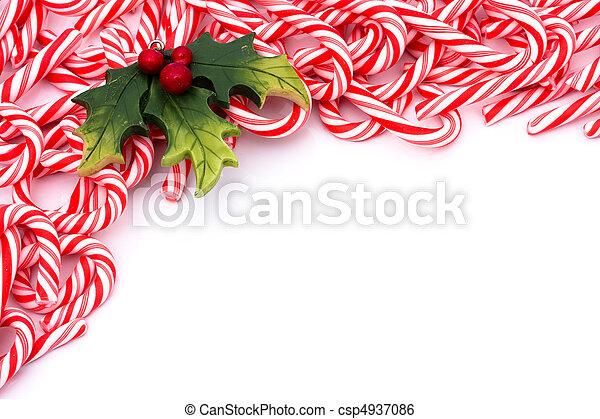 Candy Cane Border - csp4937086