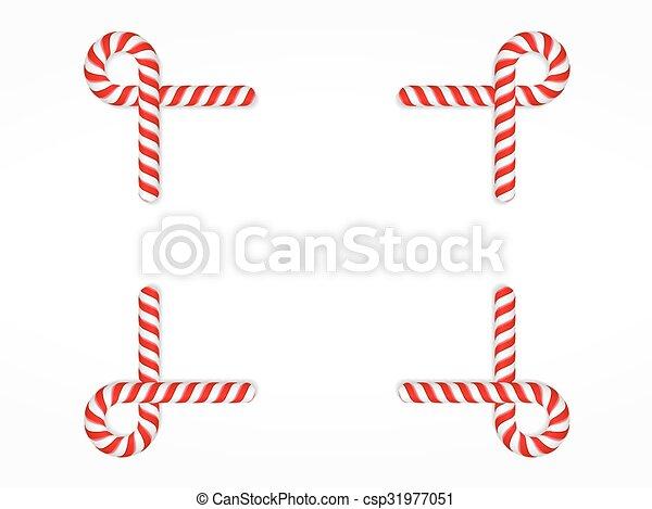 Candy Cane Frame - csp31977051