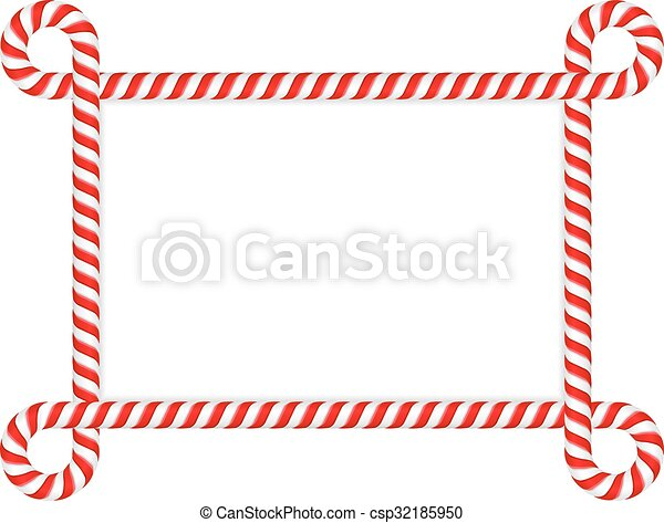 Candy Cane Frame - csp32185950