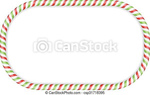 Candy Cane Frame - csp31718395