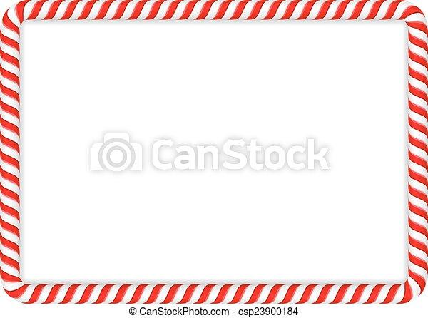 Candy Cane Frame - csp23900184