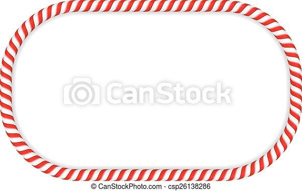 Candy Cane Frame - csp26138286