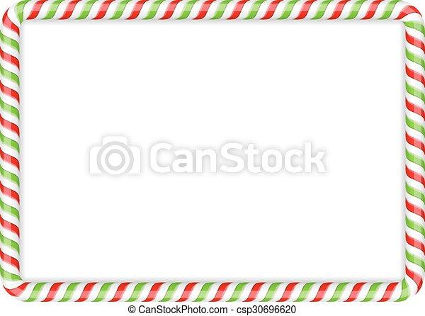 Candy Cane Frame - csp30696620