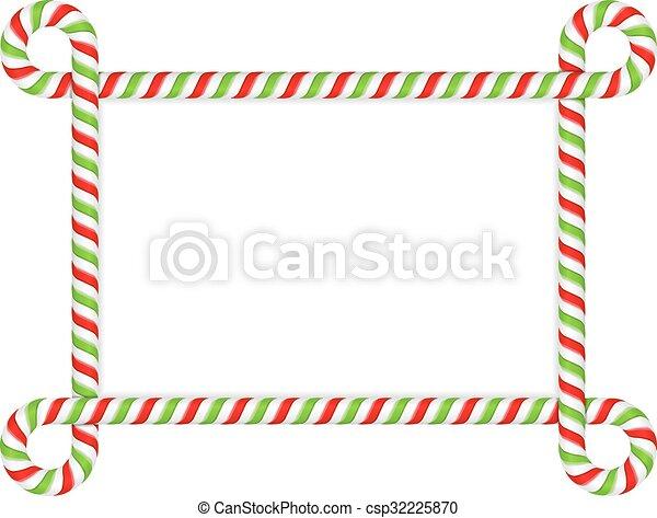 Candy Cane Frame - csp32225870