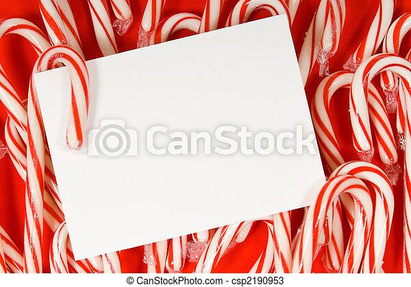 Candy cane notecard - csp2190953