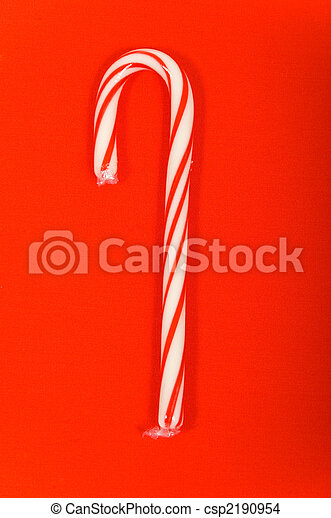 Candy Cane on red - csp2190954