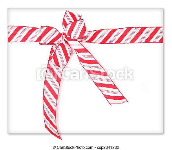 Candy Cane Present - csp2841282