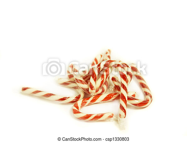 Candy Canes on White - csp1330803