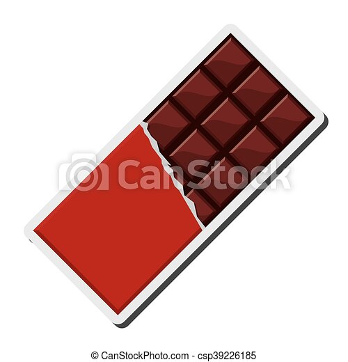 flat design candy chocolate bar icon vector illustration vector rh canstockphoto com chocolate victoria sponge chocolate victoria