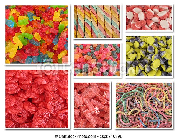 Candy collage - csp8710396