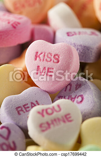 Candy Conversation Hearts for Valentine's Day - csp17699442