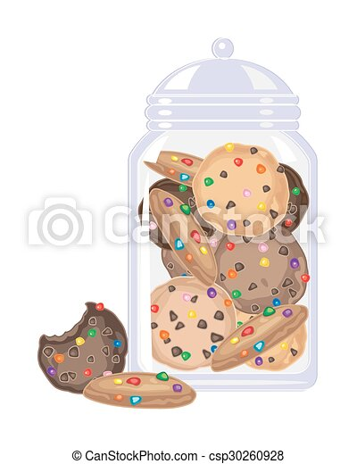 candy cookies in a jar - csp30260928