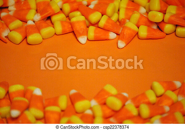 Candy corn border - csp22378374