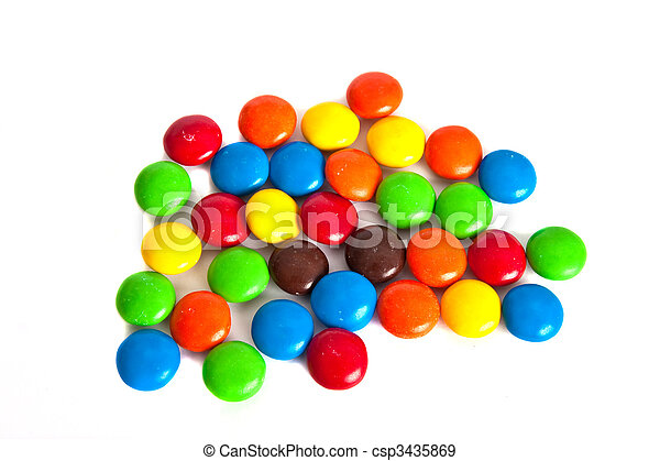 Candy Covered Chocolate - csp3435869
