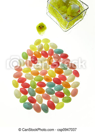 candy easter eggs - csp0947037