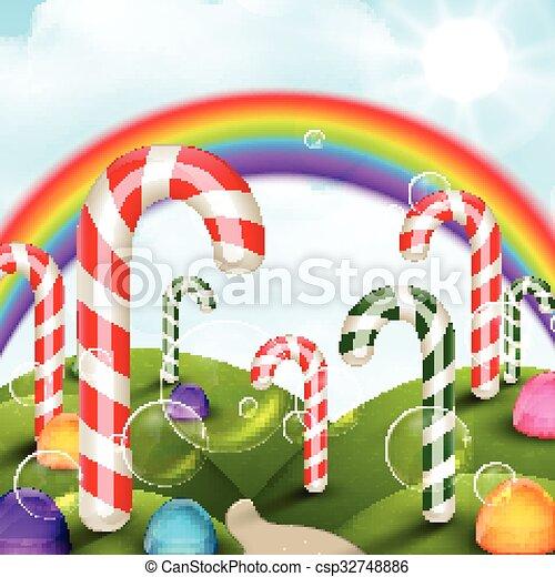 candy garden. Candy Garden Background - Csp32748886
