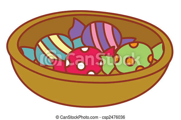 candy in a tray - csp2476036