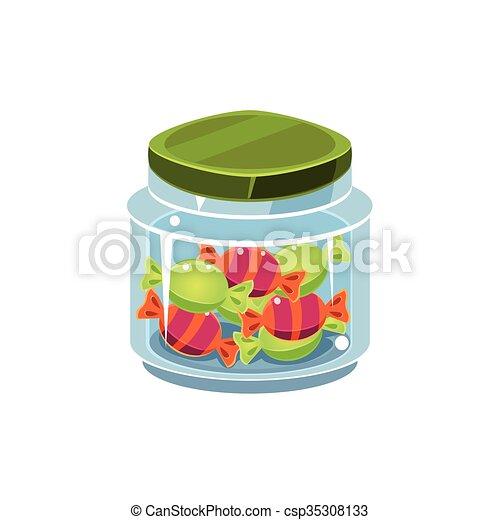 Candy In Transparent Jar - csp35308133