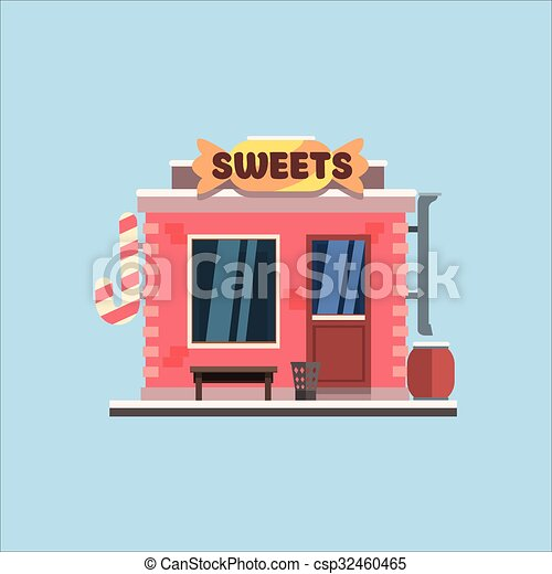 Candy shop front vector illustration candy shop front for Sweet home 3d italiano