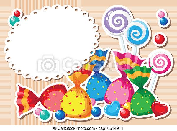 candy sticker background - csp10514911