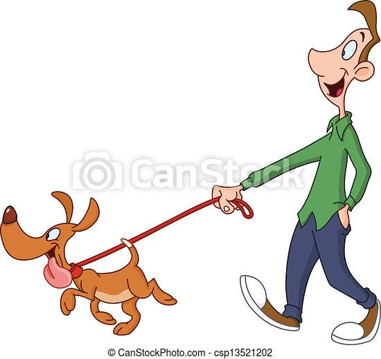 cane ambulante, uomo - csp13521202