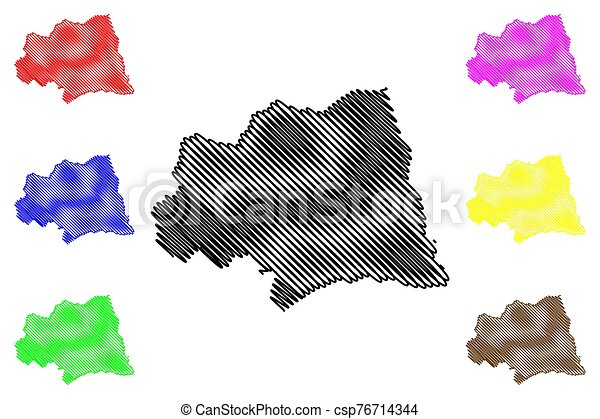 Canelones Department (Departments of Uruguay, Oriental Republic of Uruguay) map vector illustration, scribble sketch Canelones map - csp76714344