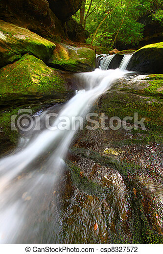 Caney Creek Falls Cascade in Alabama - csp8327572
