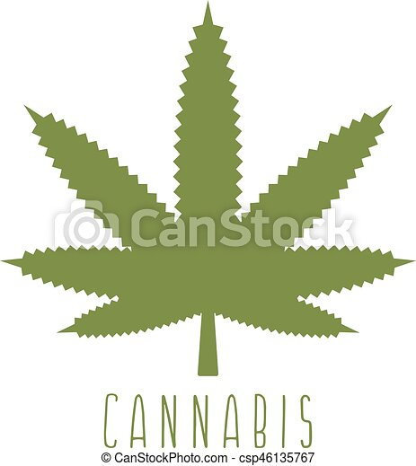 cannabis abstract simple leaf vector design template