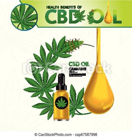 Cannabis benefits for health vector - csp67587998