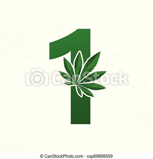 Brief mit Cannabisblatt für Logodesign. - csp69899559