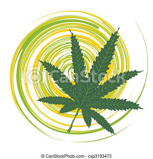 Cannabis leaf - csp3193473