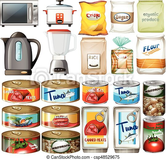 Canned food and electronic kitchen devices - csp48529675