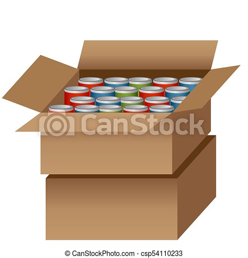Canned Food Drive - csp54110233