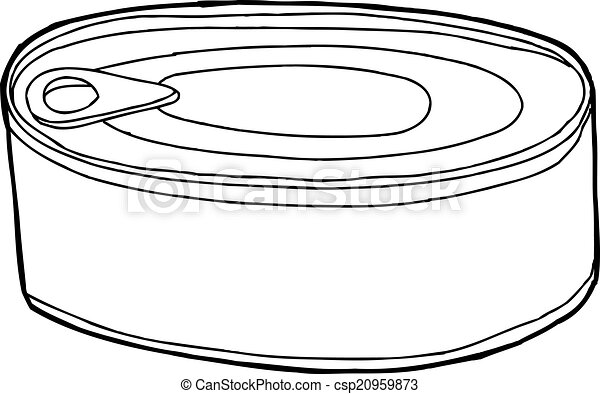 canned food generic black outline food can over white rh canstockphoto com canned food pictures clip art canned food clipart black and white