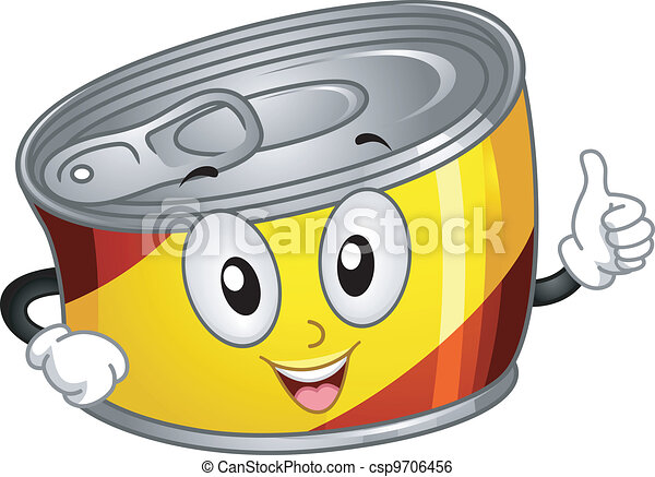 canned food mascot mascot illustration of a canned food clip art rh canstockphoto com canned food drive free clip art free clipart canned food