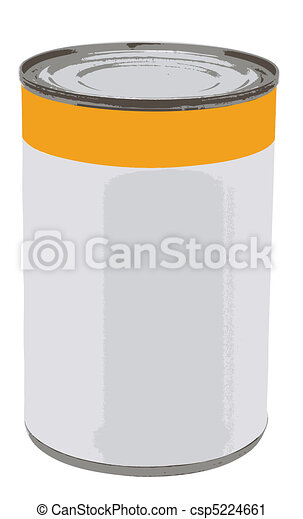 Canned Food Vector - csp5224661