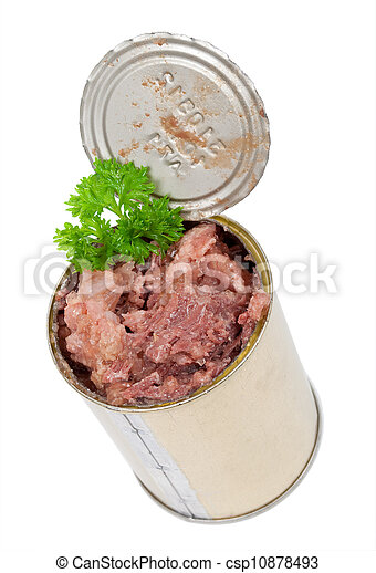 Canned meat with parsley - csp10878493