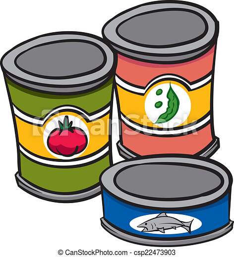 cannedfood an illustration of three cans of food vector clipart rh canstockphoto com dog food can clipart dog food can clipart