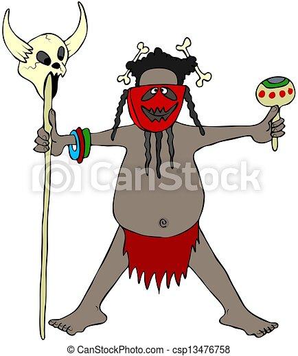 Cannibal headhunter - csp13476758