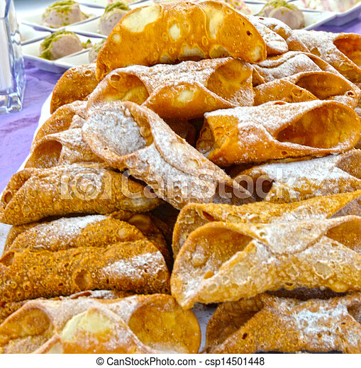Cannoli, a typical Sicilian sweet - csp14501448