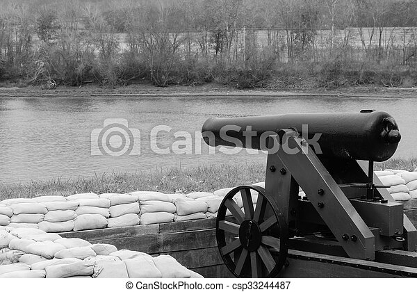 Cannon by the Lake - csp33244487