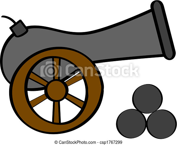 cannon cartoon illustration of an old cannon with cannon balls on rh canstockphoto com clipart cannon clipart canoe