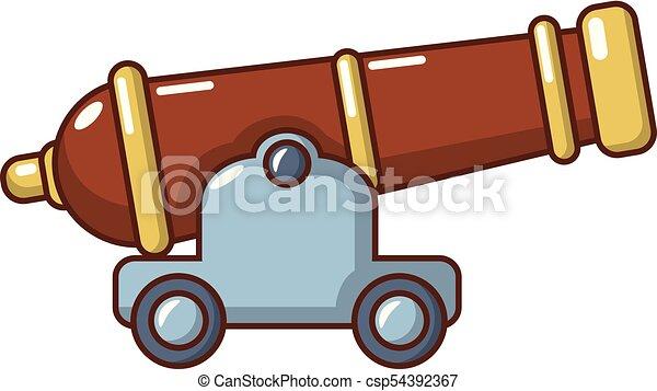 cannon icon cartoon style cannon icon cartoon clip art vector rh canstockphoto com cannon clip art disc cannon clipart black and white