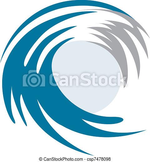 cano, metade, forma, onda - csp7478098