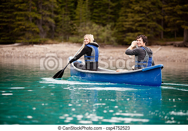 Canoe Adventure in Lake - csp4752523