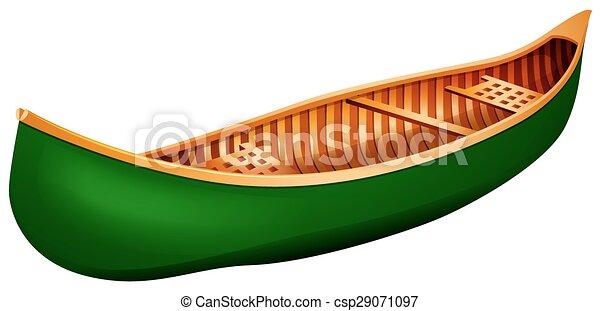 Green Canoe In Simple Design Eps Vectors