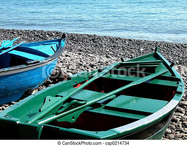 canoe in the beach - csp0214734