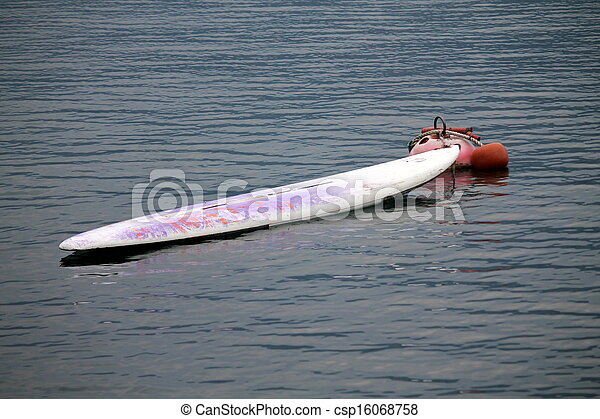 canoe on lake - csp16068758