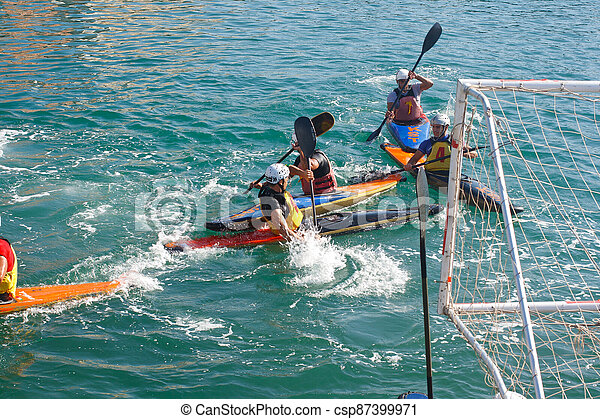 Canoe polo competition - csp87399971